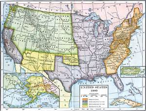 united states map 1900 the united states