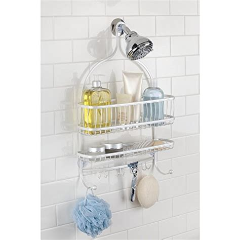 extra wide bathtub caddy interdesign york lyra extra wide bathroom shower caddy for