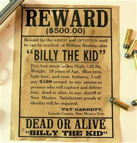 billy  kid wanted dead  alive poster kid circles