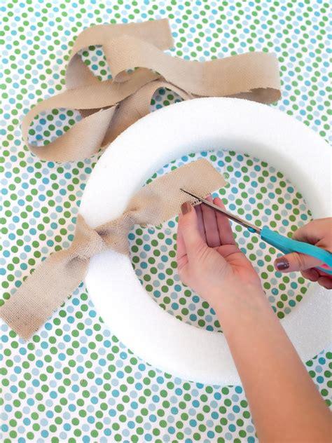 easy wreaths to make easy to make burlap wreath hgtv