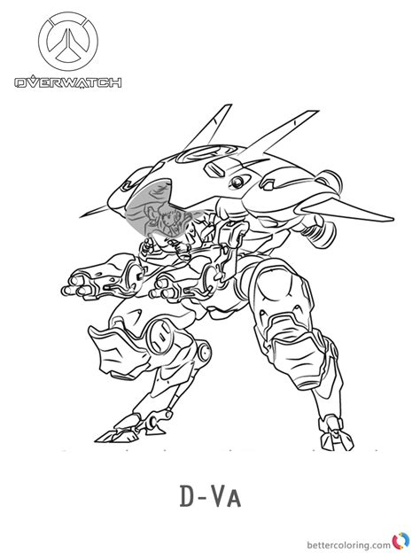 libro overwatch coloring book d va from overwatch coloring pages free printable