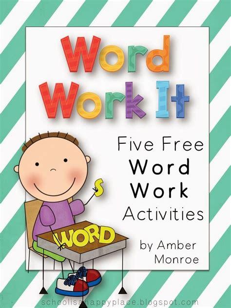printable word work games free word work activities primary grade language arts