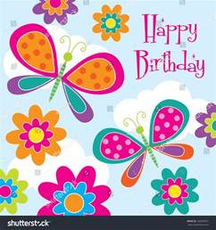 cute butterfly birthday design stock vector 180059291