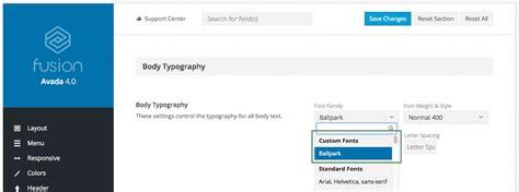 avada theme google fonts custom font theme fusion