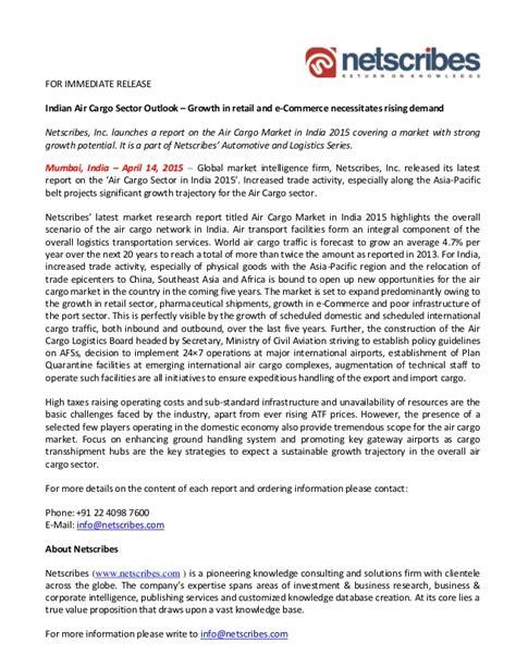 market research report air cargo market in india 2015 press relea
