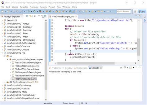 tutorial java file java file delete method exle
