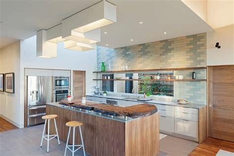 cuisine contemporaine blanche mod 232 le de cuisine contemporaine blanche et bois pour