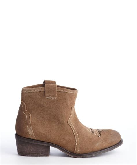 charles by charles david brown otter suede honey ankle