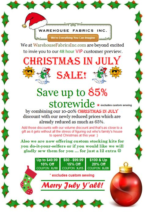 christmas in july shop and save now 171 best fabric store
