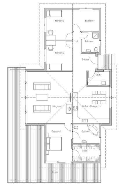 new house plans for 2013 affordable home plans economical modern home plan ch192