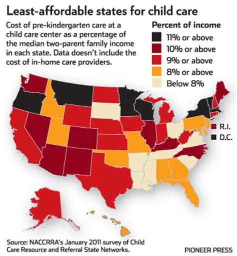 day care prices minnesota s child care averaging 9 900 a year is among least affordable