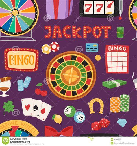 Dream Interpretation Winning Money - casino game gambling symbols blackjack cards money winning roulette joker vector