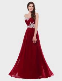 Dresses For Weddings Dark Red Strapless Prom Dress Naf Dresses