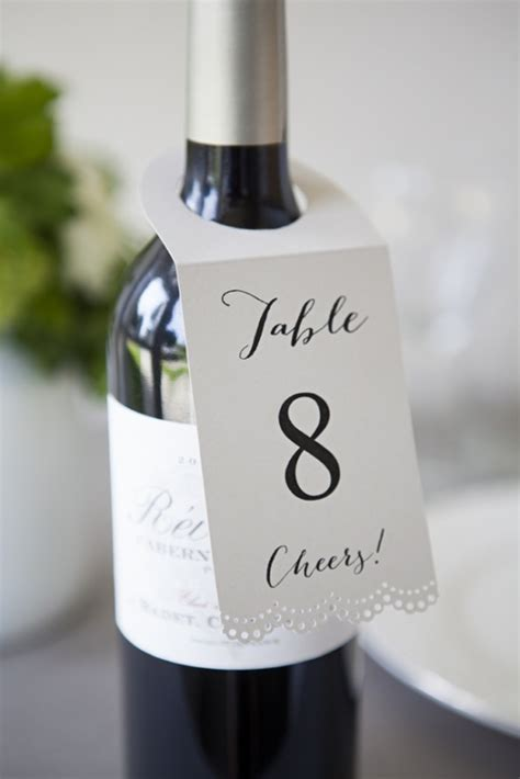 DIY Wine Bottle Table Numbers by Jen Carreiro   Project