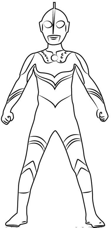 Mewarnai Sketsa Gambar Ultraman Zero Terbaru - KataUcap