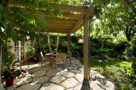 Garden Oasis Arbor Garden Oasis Patio With Pergola Eclectic Patio Santa