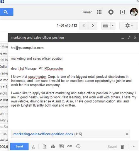 contoh lamaran kerja bahasa inggris  email umardannycom