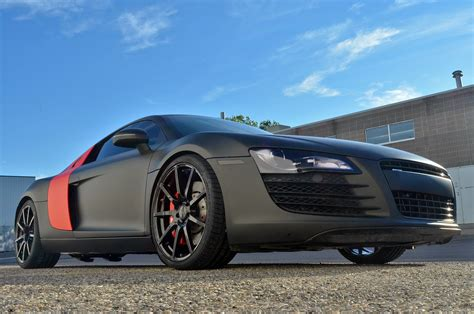 wrapped r8 sinister wrapped audi r8 on tsw wheels by zr auto gtspirit