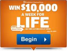 Pch 10000 A Week - 7 ooo oo a week for life certified contest seal respond