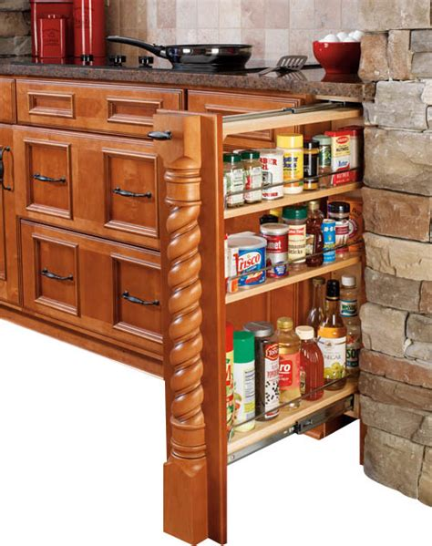 kitchen cabinet interior organizers rev a shelf 432 bf 6c 6 quot wood base cabinet pullout filler