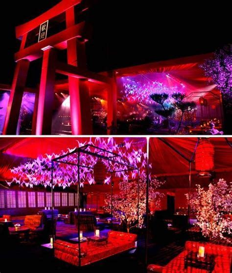 Hollywood Style } Japanese Theme Emmy Party   Asian theme
