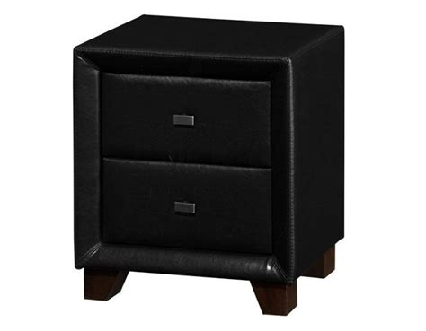 Black Leather Nightstand by Birlea 2 Drawer Stand In Black Faux Leather
