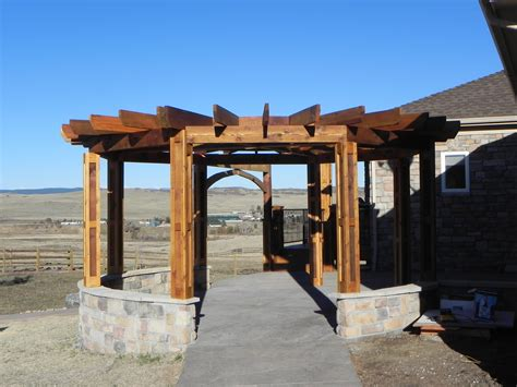 circular pergola craftsman outdoor living