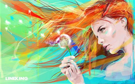 wallpaper girl drawing painting art drawing girl flower wallpaper 1616 wallpaper