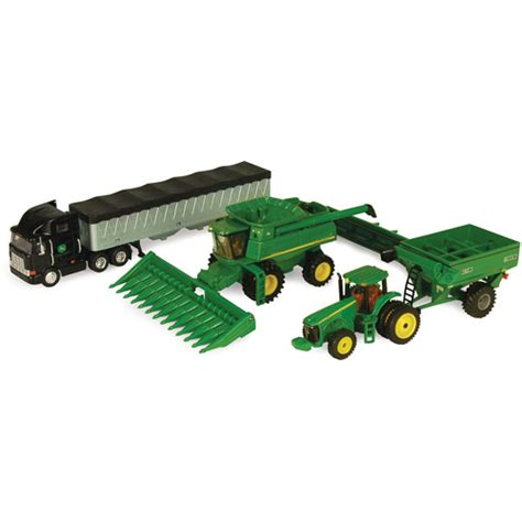 W E B E Semi Ori 1 Set deere 1 64 farm hauler semi with combine play set