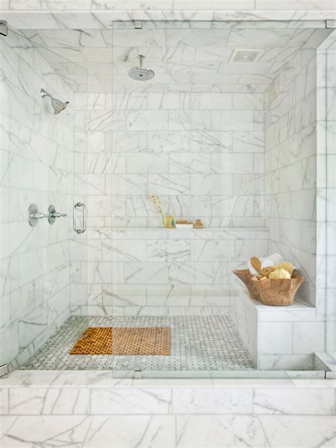 Marble Showers Bathroom Photos Hgtv