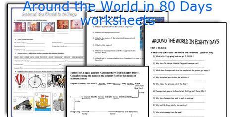 teaching worksheets around the world in 80 days