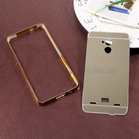 Bumper Slide Mirror Infinix 3 sliding plated metal bumper mirror like pc shell for zte blade v7 lite gold tvc mall