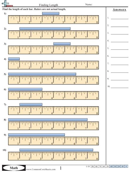 printable ruler quiz math measurements worksheets measurement worksheets