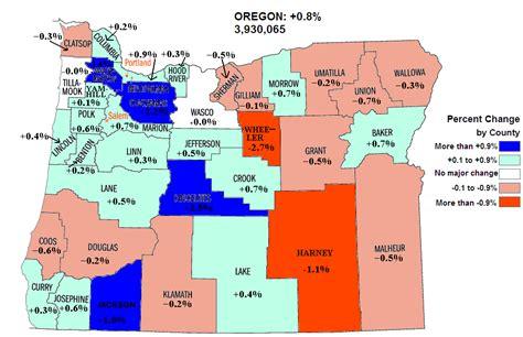 map of oregon population new census county population estimates for oregon
