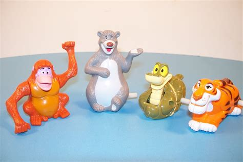 Mainan Figure Anak Fast Food Toys 2 1989 mcdonald s walt disney s classic the jungle book set of 4 happy meal review