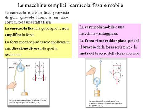 carrucola fissa e mobile la statica la statica 232 una parte della meccanica che