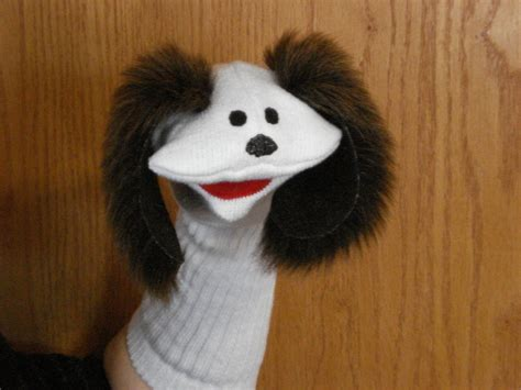 puppy puppet sock puppet with brown ears daycare school church home