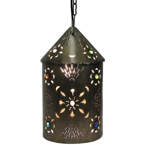 mexican tin lighting collection puebla lantern w marbles