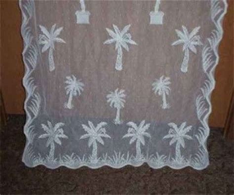 how to dye lace curtains tropical palm tree lace curtain valance ecru color