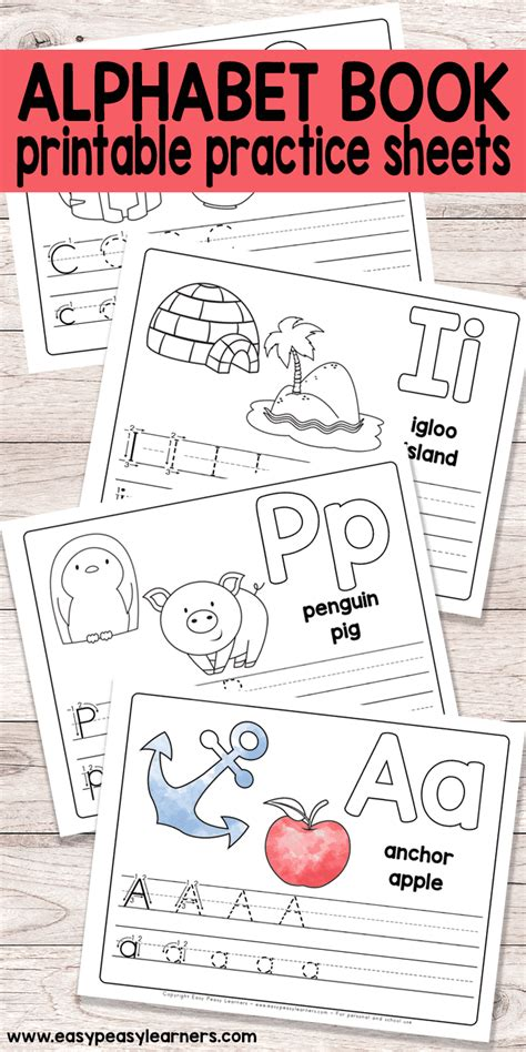 Alphabet Books For Preschoolers Printable