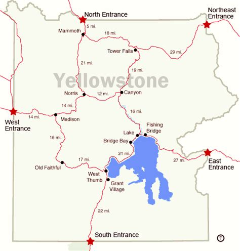 yellowstone lodging map yellowstone map freetemplate