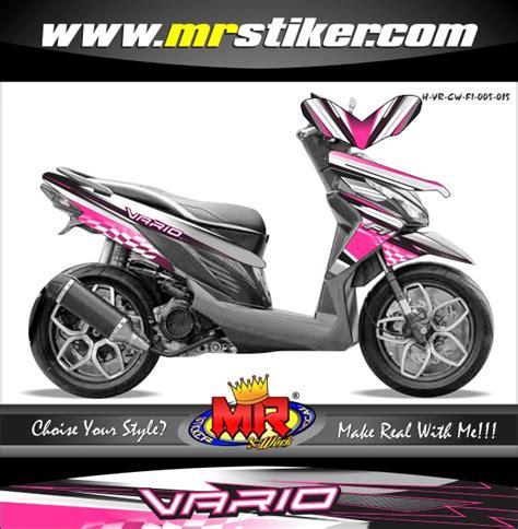 Keranjang Vario Cw vario cw fi racing stiker motor striping motor