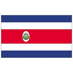 costa rica colors costa rica flag vector at vectorportal