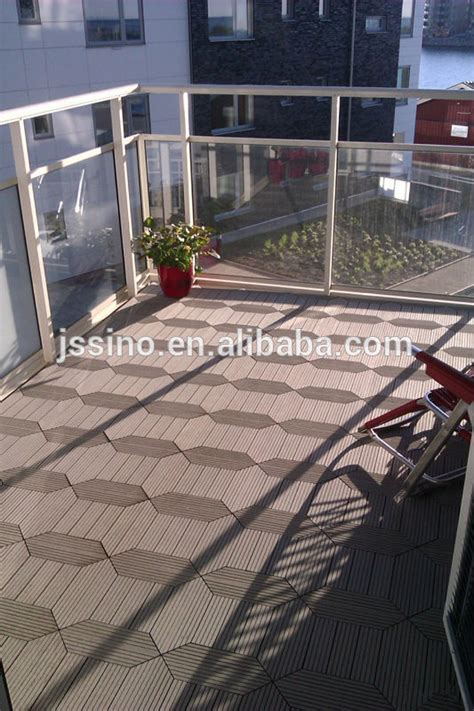 Plastic Patio Flooring by Garden Tile Self Installing Wpc Decking Tiles Patio