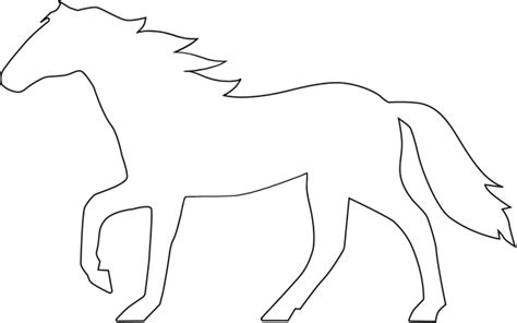 horse outline clipart best