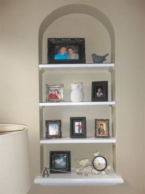 built in wall shelf home ideas