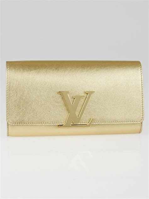 New Arrival Clutch Gucci Lv 288808 louis vuitton gold calfskin leather louise clutch bag yoogi s closet