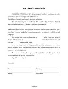 free non compete agreement template generic non compete agreement pdf free software