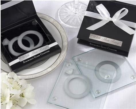 Wedding Souvenir Ring With Photo Coaster Wj44 1 wedding favor glass coaster with this ring wedding guest gifts give away souvenirs bridal