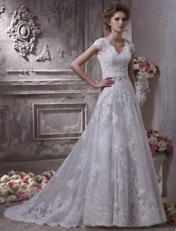 lace winter wedding dresses uk a line lace v neckline wedding dress with sleeves